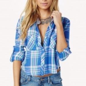 Rails Rian Cropped Flannel Shirt